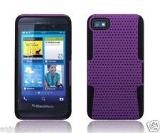BlackBerry Z10 Laguna Mesh Hybrid Case Skin Cover Accessory Purple Black