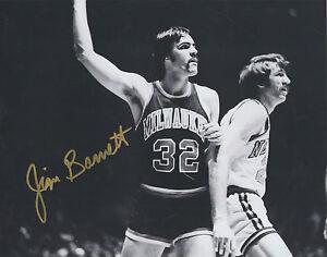 Jim Burnett NEW YORK KNICKS Signed 8x10 Photo J1 COA GFA