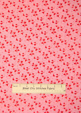 Henry Glass Heart Strings #6131 Heart Swirls Red Pink Cotton Fabric By The Yard