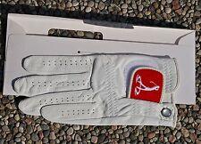 guanto da GOLF in pelle bianco, marca OMEGA nuovo con  confezione.