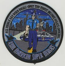 """POLICE REAL AMERICAN SUPER HEROES EMBROIDERED 5"""" PATCH IronOn Emblem Officer NEW"""