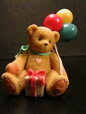 Cherished Teddies Nina Bear Holding Balloons Event Mint In Box