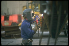 237017 Welder Repairing Foundation Equipment A4 Photo Print