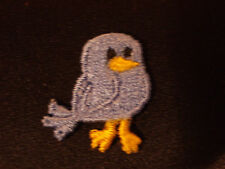 BABY CHICK BIRD, BLUE, EMBROIDERY APPLIQUE PATCH EMBLEM LOT (24 DOZEN)