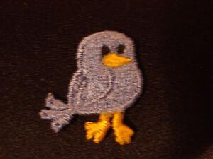 BABY CHICK BIRD, BLUE, EMBROIDERY APPLIQUE PATCH EMBLEM LOT (24 DOZEN)