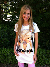 Bnwt Retro MARILYN MONROE anni'50 MOVIE ICONS t shirt / Top / Abito Taglia 8 10 12 14