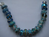 Turquoise Blue Glass Beads for European Charm Bracelets