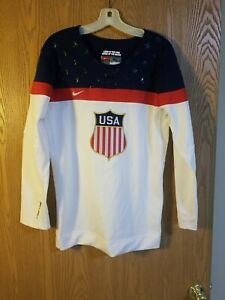 Nike Team USA Sewn Shield Logo 2004 Olympics Hockey Jersey Adult XL EUC
