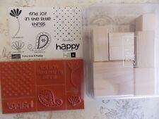 WtW Stampin Up Polka Dots & Paisley Stamp Scrapbook Cardmaking New NIB Unmounted