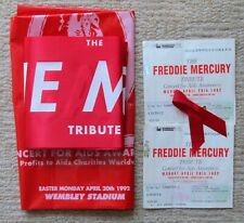 The Freddie Mercury Concert For Aids Awareness ~ Bag, Scarf, Ribbon And Tickets