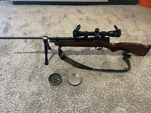 Beeman SAG Bolt-Action CO2 Powered .177 Cal Pellet Hardwood Stock Air Rifle