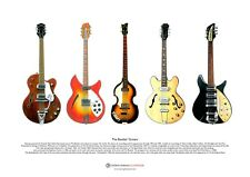 The Beatles Guitars ART POSTER A3 size