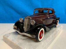 Danbury Mint 1933 Ford Model 40 Coupe, Coach Maroon and Black, 1:24 Scale, LNIB