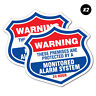 2 x Warning Protected Monitored Alarm Sticker Decal Safety Sign Car Vinyl #67...