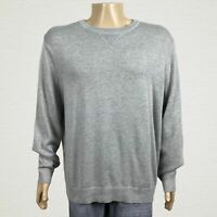 Nautica Heather Gray Crew Neck Pullover Sweater XL Men's Long Sleeves Cotton