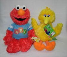 Gund plush  ABC ELMO and BIG BIRD    Sesame Street