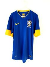 Brazil Away Shirt 2012. Small Adults. Nike. Blue Short Sleeves Football Top Only