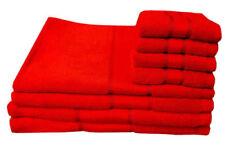 Toalla de baño de baño y albornoces color principal rojo 100% algodón