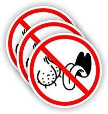 (3) NO BAG LICKERS Funny Hard Hat Stickers / Motorcycle / Welding Helmet Decals