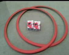 2 NEW DURO BICYCLE TIRES 700X28C, FIXIE TRACK URBAN, RED, & 2 TUBES