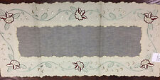 Elegant  Embroidery Table Runner Beige VCHR-17