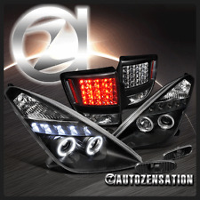 00-05 Toyota Celica Black Projector Headlights+Bumper Lamps+LED Tail Lights