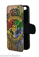 Harry Potter Hogwarts inspired Faux Leather Flip Wallet Mobile Phone Case Cover