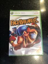 FaceBreaker - Xbox 360 New sealed side of the Boxe Seal Is Torn As Pictured N