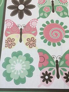 Springs Creative Products - Fantasy Wings Quilt Panel - Butterflies + Flowers