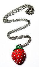 Strawberry sparkling gem Rockabilly necklace jewellery job lot x10 NEW RRP £10