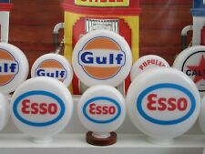 Esso Style Gas Pump Globes Gasoline Selection Glass Petrol Pump Globes