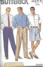 Butterick Sewing Pattern # 3217 Mens Shirt Shorts and Pants Size Lg-Xlg