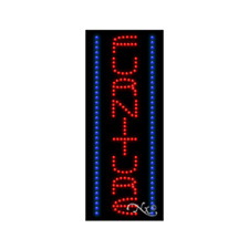 "New ""Furniture"" 27x11 Vertical Border Solid/Animated Led Sign W/Options 21558"