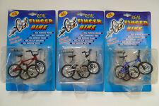 Real Finger Bike - Set 3 Stück rot, blau, silber - Neu, OVP