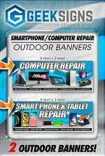 Smartphone Computer Repair SET OF 2 outdoor banner sign poster iphone samsung