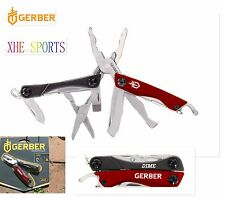 Gerber Dime Multi Tool Plier Gerber Scissors Knife Camping Hunting 31-001040 Red