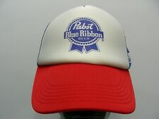 PABST BLUE RIBBON BEER - ONE SIZE TRUCKER STYLE SNAPBACK BALL CAP HAT!
