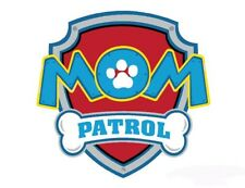 *****PAW PATROL * MOM***FABRIC/T-SHIRT IRON ON TRANSFER