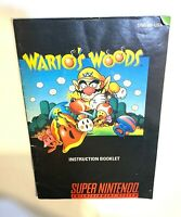 Wario's Woods SNES Super Nintendo Instruction Manual Only