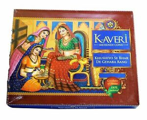 Kaveri 100% Natural Henna paste Temporary Tattoo No Chemical No Ammonia 12 cone