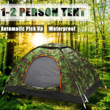 Outdoor 1-2 Persons Camping Tent Waterproof Windproof UV Sunshade Camouflage