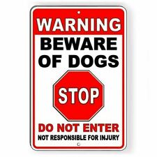 Warning Sign Beware Of Dogs Do Not Enter Metal pitbull bite Security Sbd030