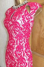 WALLIS ❤️  RRP £50 LOVELY RED WIGGLE LACE  BALL DRESS SIZE 16 WEDDING