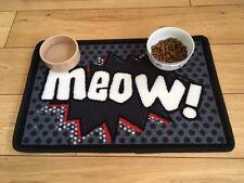 PET Rebellion CAT Cena MAT coincidente MEOW Retrò FUMETTI CIOTOLE DI ALIMENTAZIONE CIBO ordinato