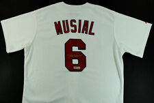 STAN MUSIAL SIGNED AUTOGRAPH ST LOUIS CARDINALS MAJESTIC JERSEY