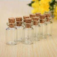10 Cute Mini Small Tiny Clear Cork Stopper Glass Bottles Vials Jars Wholesale