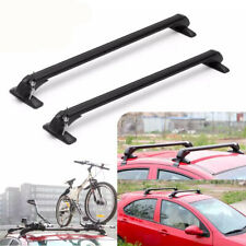 "39.4"" Car Roof Rack Universal Cross Bar Luggage Carrier Adjustable Window Frame"