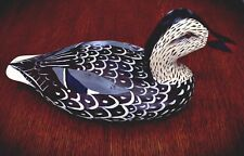 Vintage Hand Carved And Hand Painted Beautiful Artist Signed Duck Decoy