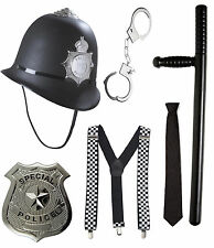 London Police Officer Hard Plastic Policeman Bobby Hat with Accessories Adult