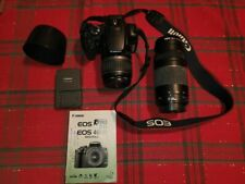 Canon EOS Digital Rebel XTi / 400D SLR Camera with a 75-300mm zoom lens